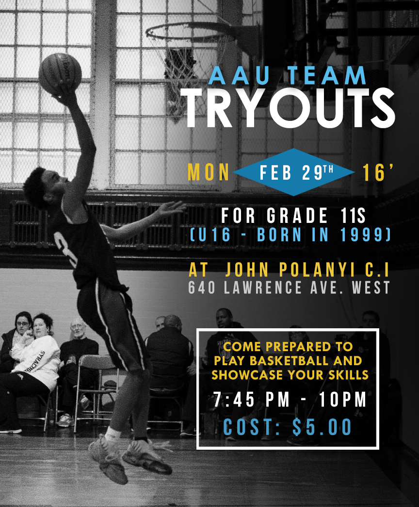 BTB Club/DeenUp Basketball AAU Tryouts Monday February 29th