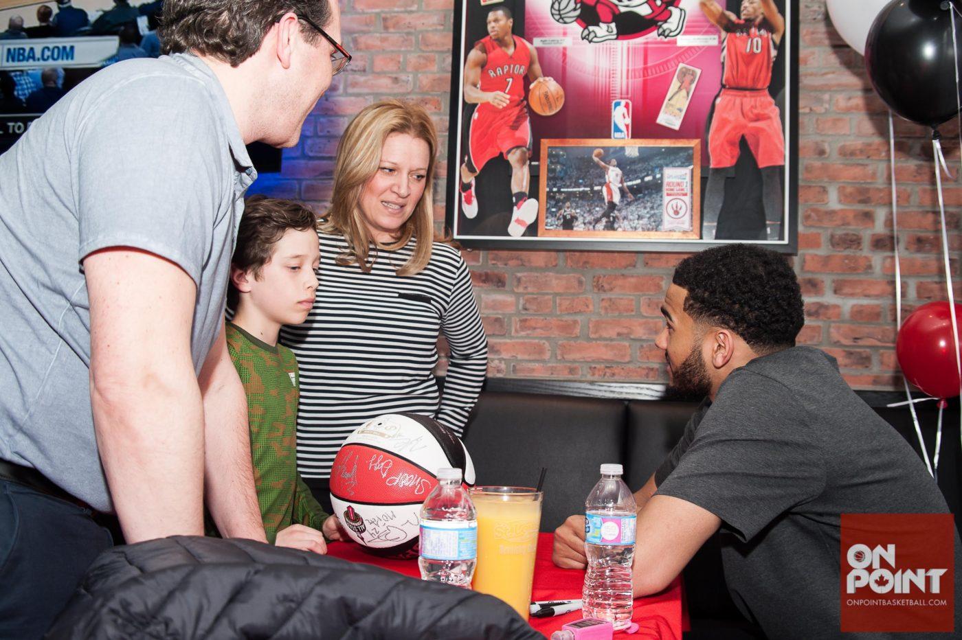 Toronto Raptors playoffs dynamo Cory Joseph visits St. Louis Bar & Grill
