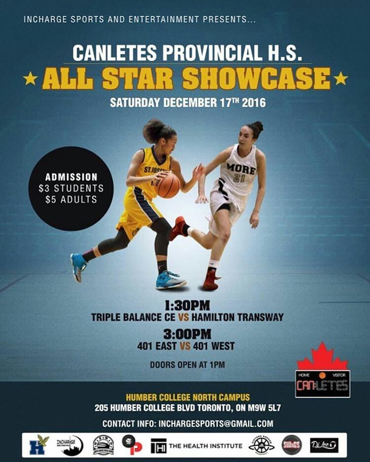 Inaugural Canletes Provincial High School Showcase Saturday December 17th, 2016