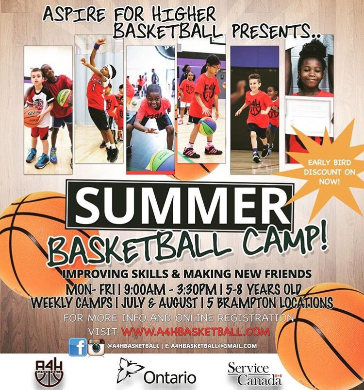 Aspire for Higher Basketball Camp set for July and August
