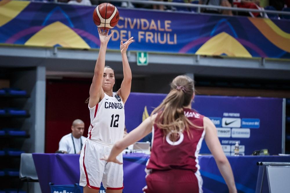 Canada's FIBA U19 World Cup team edges Latvia, improving to 3-0. Next up Mexico