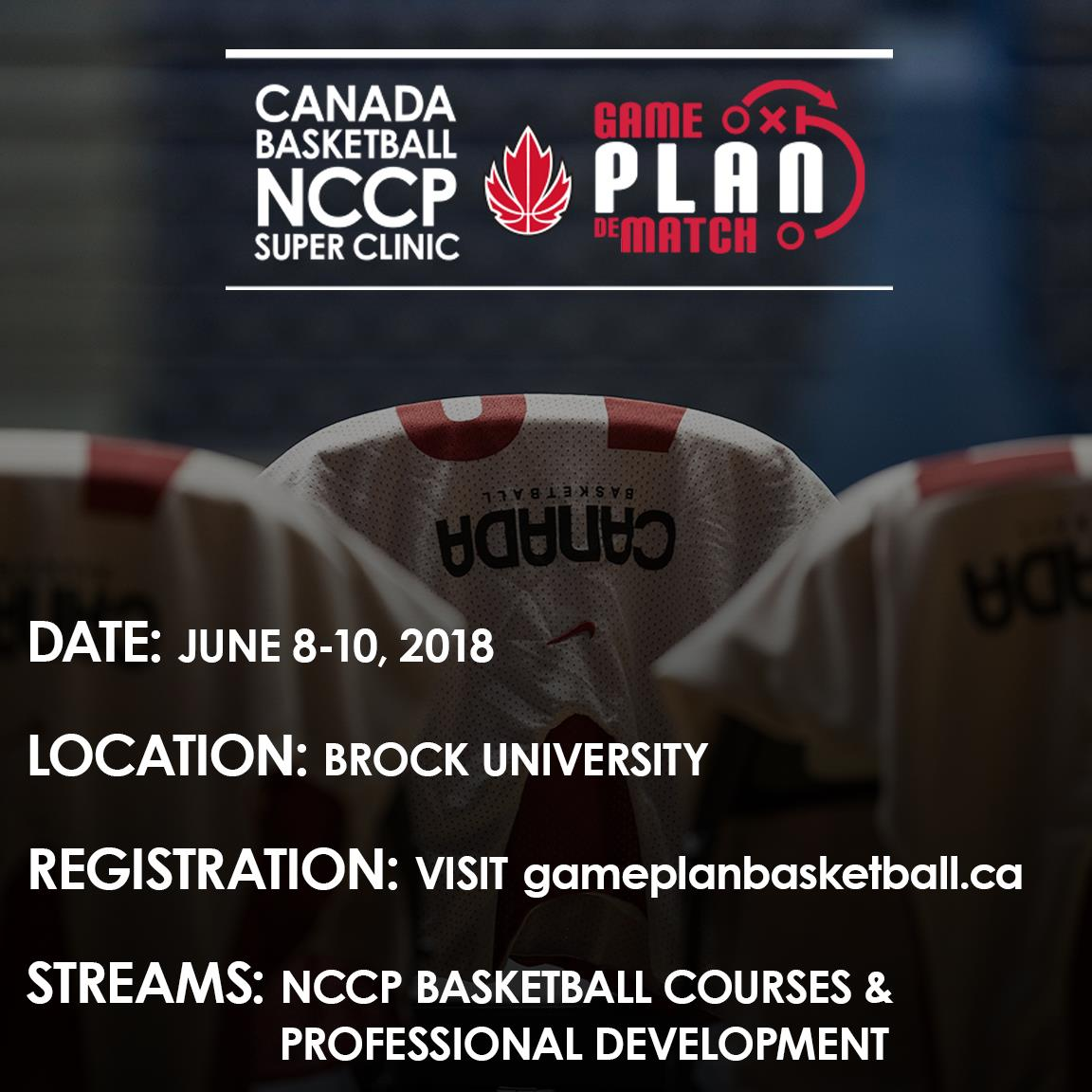 Canada Basketball Super Clinic 2018 set for June 8th-10th, 2018 at Brock University