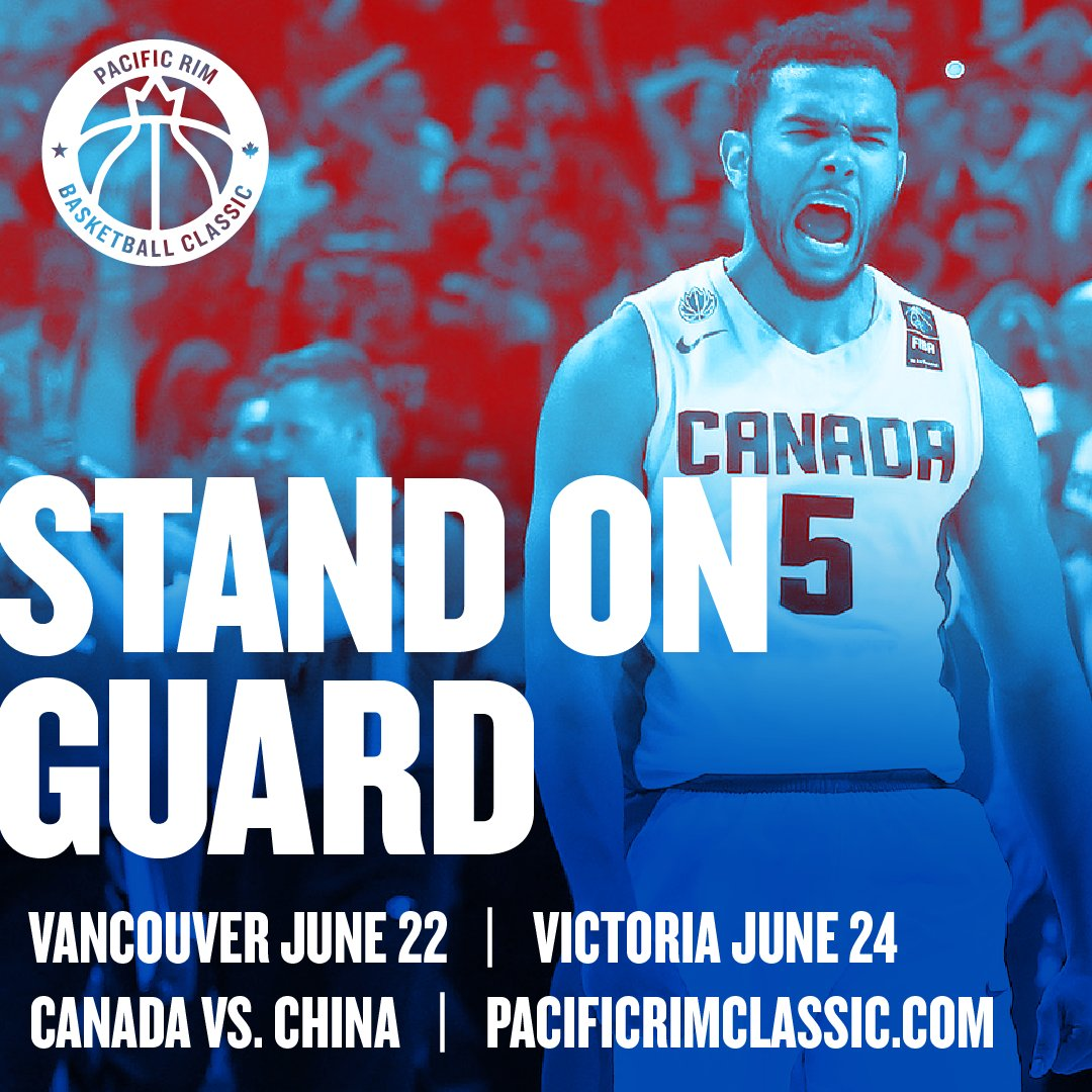 Team Canada to face China in Inaugural Pacific Rim Basketball Classic