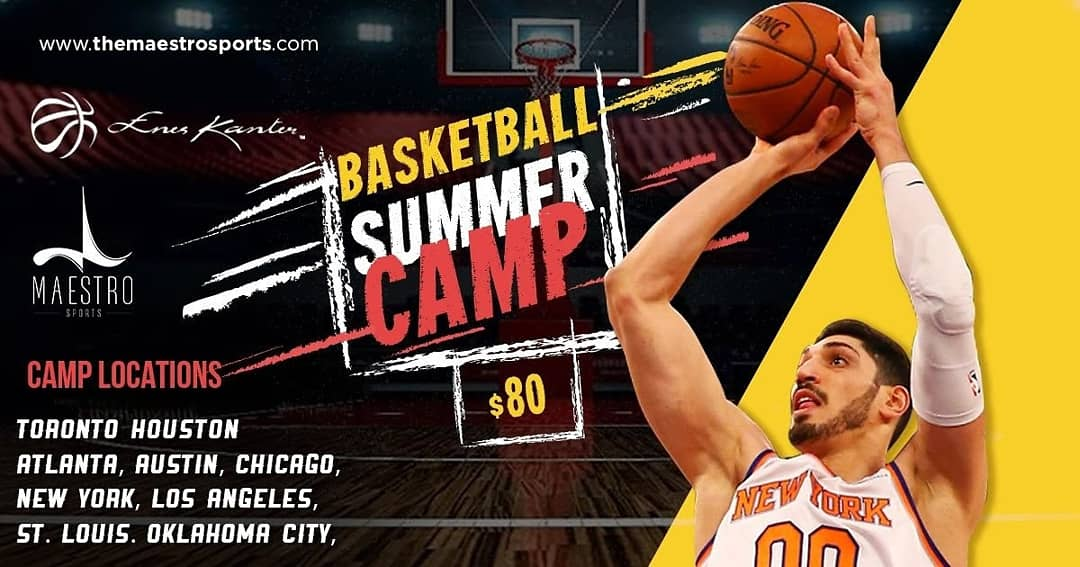 NBA Star Enes Kanter hosts Basketball Camp on June 23rd at York University