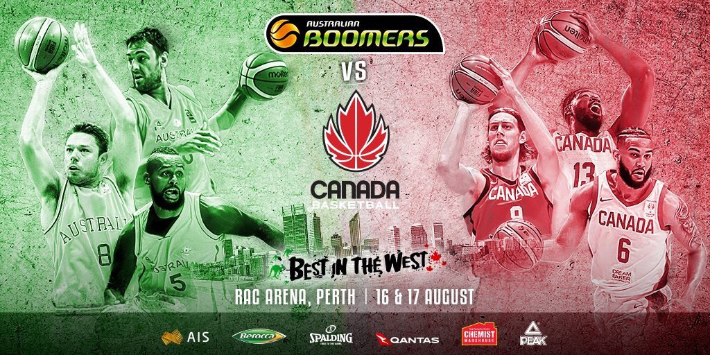 Canada to face Australia in Perth August 16 and 17