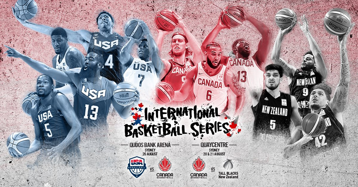 Canada to Face USA, New Zealand in International Basketball Series Ahead of FIBA Basketball World Cup 2019