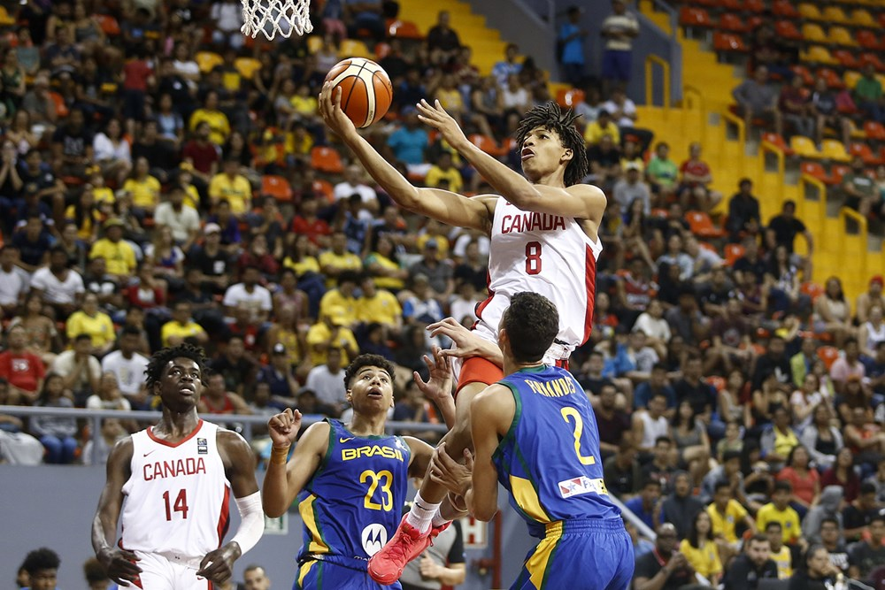 Canada improves to 2-0 at FIBA U16 Americas Championship 2019 with victory over Brazil
