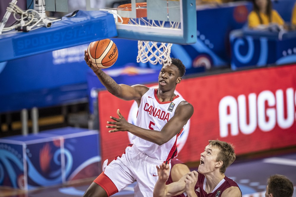 Canada finishes first in Group B after defeating Latvia at FIBA U19 Basketball World Cup