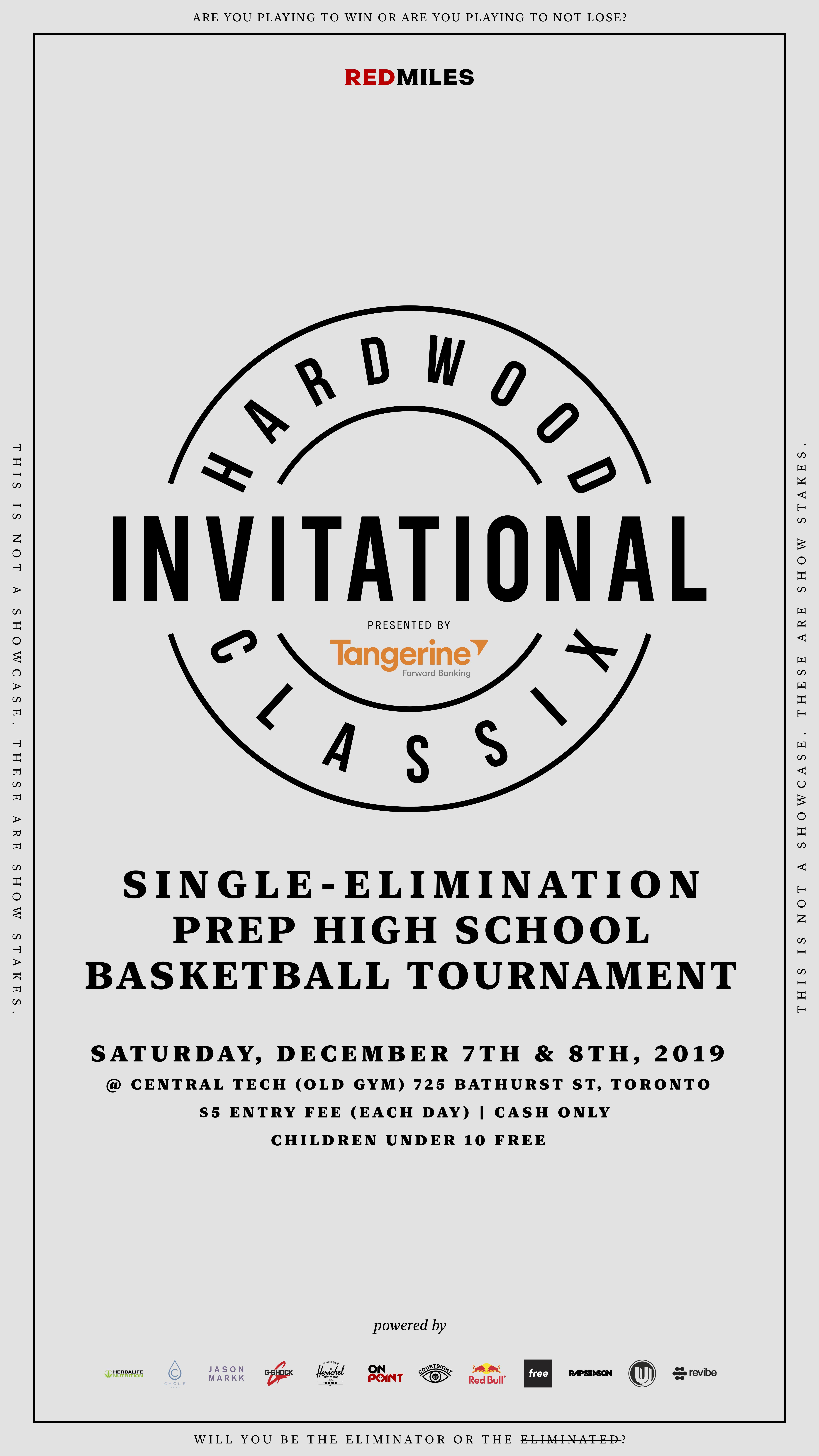 Single-elimination Hardwood Classix Invitational Digital Program: December 7-8