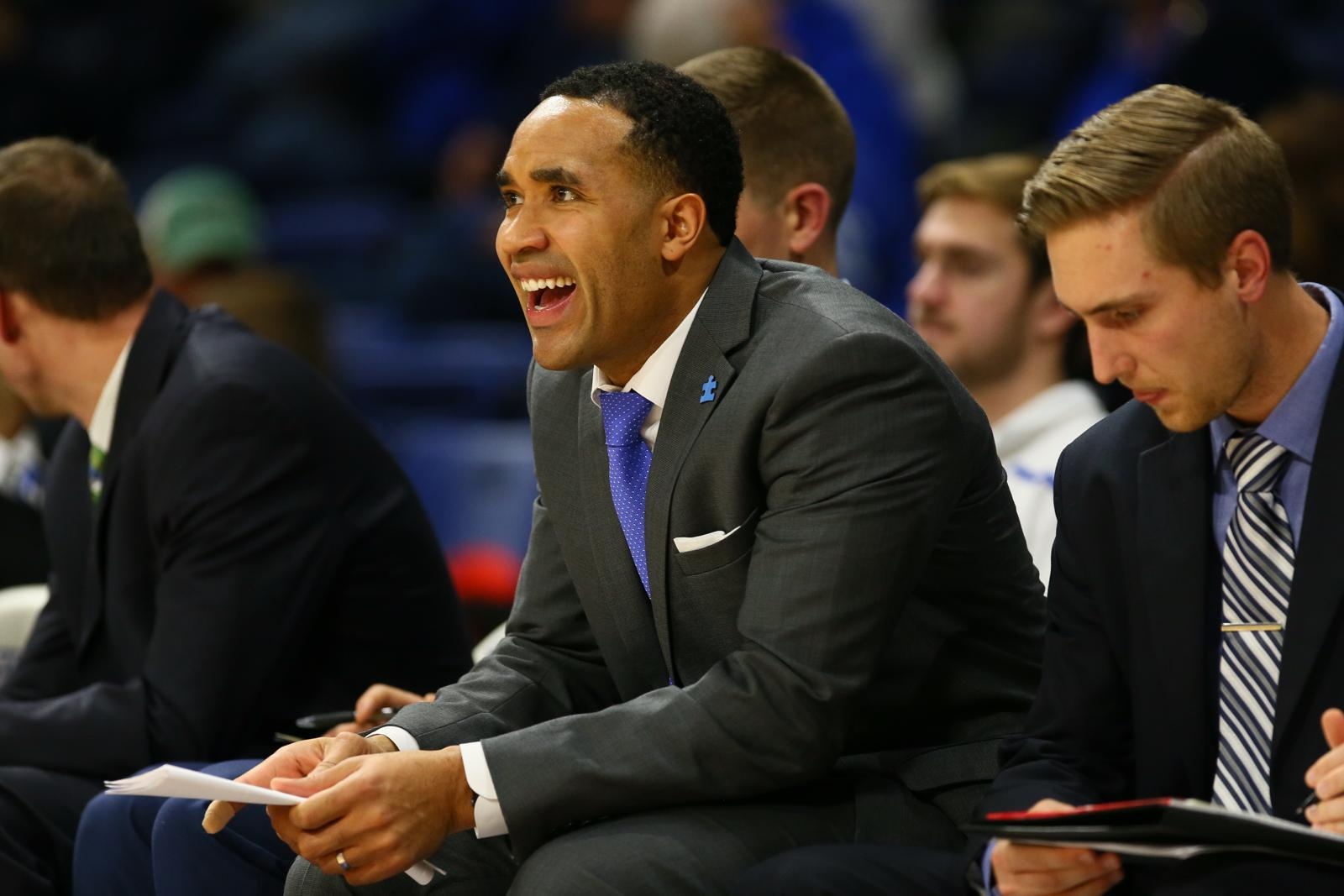 Through assistant coach Larry Blunt, Drake University's new era has ties back to Canada