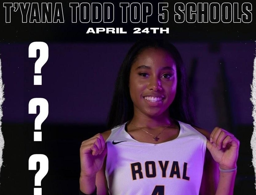 Royal Crown Guard T'yana Todd announces Top-5 NCAA school list on April 24th