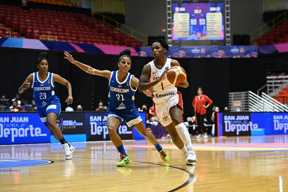 Canada advances to Women's Americup semis with convincing 90-53 win over the Dominican Republic