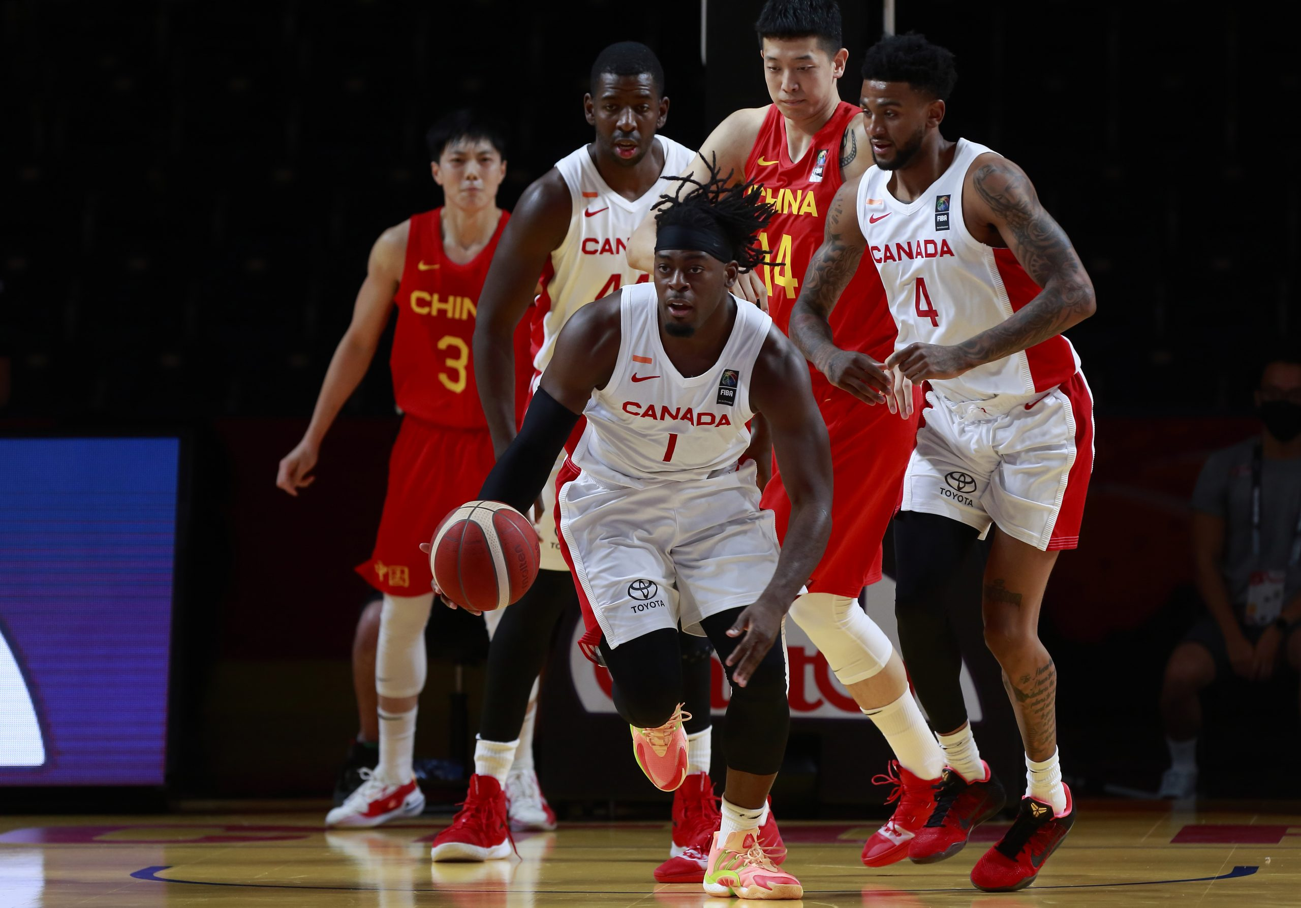 Canada's SMNT books ticket to the FIBA Olympic Qualifying Tournament semis with 109-79 win over China