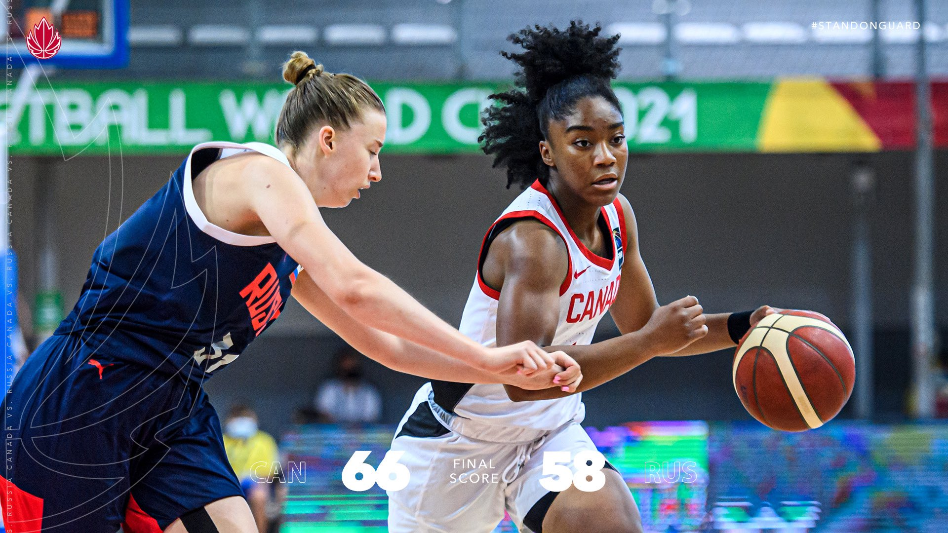 Canada downs Russia 66-58 and will play for 5th place at the FIBA U19 Women's World Cup