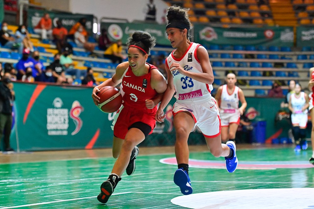 Canada go undefeated in group play with 102-50 thrashing of Puerto Rico at FIBA U16 Women's Americas